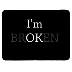 I Am Ok   Broken Samsung Galaxy Tab 7  P1000 Flip Case by Valentinaart