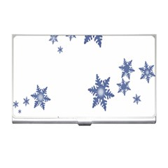 Star Snow Blue Rain Cool Business Card Holders by AnjaniArt