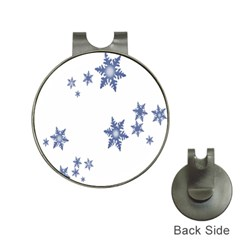 Star Snow Blue Rain Cool Hat Clips With Golf Markers by AnjaniArt