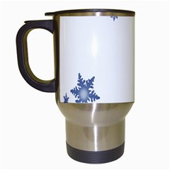 Star Snow Blue Rain Cool Travel Mugs (white) by AnjaniArt