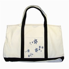 Star Snow Blue Rain Cool Two Tone Tote Bag by AnjaniArt