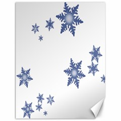 Star Snow Blue Rain Cool Canvas 12  X 16