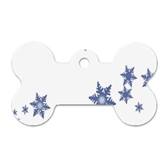 Star Snow Blue Rain Cool Dog Tag Bone (two Sides) by AnjaniArt