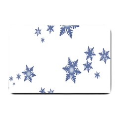 Star Snow Blue Rain Cool Small Doormat  by AnjaniArt