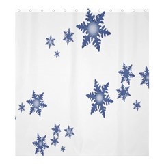Star Snow Blue Rain Cool Shower Curtain 66  X 72  (large)  by AnjaniArt