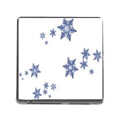 Star Snow Blue Rain Cool Memory Card Reader (square) by AnjaniArt