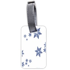 Star Snow Blue Rain Cool Luggage Tags (one Side)  by AnjaniArt