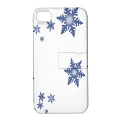 Star Snow Blue Rain Cool Apple Iphone 4/4s Hardshell Case With Stand