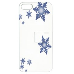 Star Snow Blue Rain Cool Apple Iphone 5 Hardshell Case With Stand