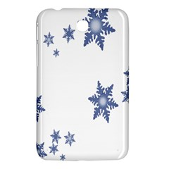 Star Snow Blue Rain Cool Samsung Galaxy Tab 3 (7 ) P3200 Hardshell Case  by AnjaniArt