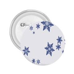 Star Snow Blue Rain Cool 2 25  Buttons by AnjaniArt