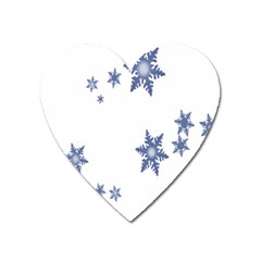 Star Snow Blue Rain Cool Heart Magnet by AnjaniArt