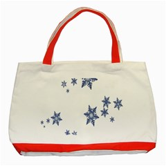 Star Snow Blue Rain Cool Classic Tote Bag (red) by AnjaniArt