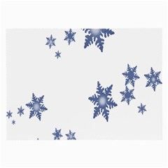 Star Snow Blue Rain Cool Large Glasses Cloth (2 Side) by AnjaniArt
