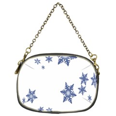 Star Snow Blue Rain Cool Chain Purses (two Sides)  by AnjaniArt