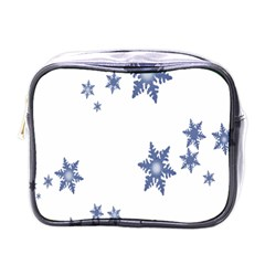 Star Snow Blue Rain Cool Mini Toiletries Bags by AnjaniArt
