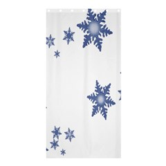 Star Snow Blue Rain Cool Shower Curtain 36  X 72  (stall)  by AnjaniArt