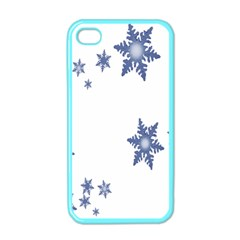 Star Snow Blue Rain Cool Apple Iphone 4 Case (color) by AnjaniArt