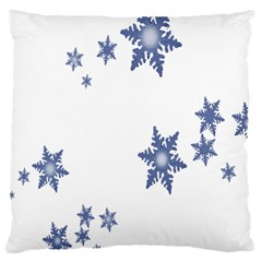 Star Snow Blue Rain Cool Large Cushion Case (one Side)