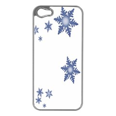 Star Snow Blue Rain Cool Apple Iphone 5 Case (silver) by AnjaniArt