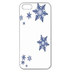 Star Snow Blue Rain Cool Apple Seamless Iphone 5 Case (clear) by AnjaniArt