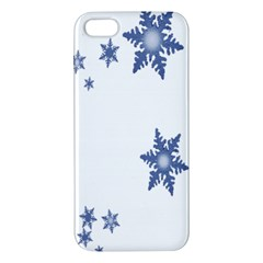Star Snow Blue Rain Cool Apple Iphone 5 Premium Hardshell Case by AnjaniArt