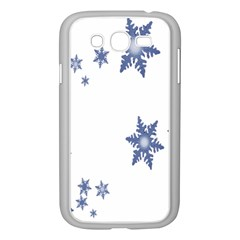Star Snow Blue Rain Cool Samsung Galaxy Grand Duos I9082 Case (white) by AnjaniArt