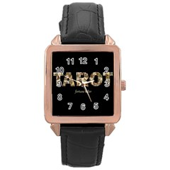 Tarot Fortune Teller Rose Gold Leather Watch