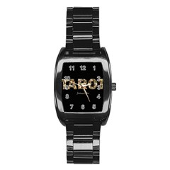 Tarot Fortune Teller Stainless Steel Barrel Watch
