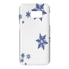 Star Snow Blue Rain Cool Samsung Galaxy S7 Hardshell Case  by AnjaniArt