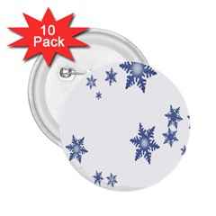 Star Snow Blue Rain Cool 2 25  Buttons (10 Pack)  by AnjaniArt