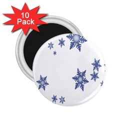 Star Snow Blue Rain Cool 2 25  Magnets (10 Pack)  by AnjaniArt