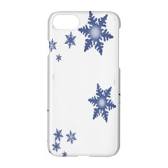 Star Snow Blue Rain Cool Apple Iphone 7 Hardshell Case by AnjaniArt