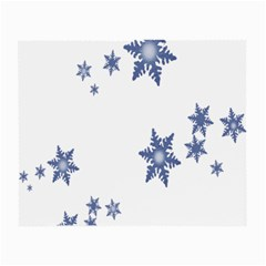 Star Snow Blue Rain Cool Small Glasses Cloth (2 Side) by AnjaniArt