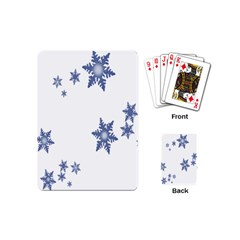 Star Snow Blue Rain Cool Playing Cards (mini)