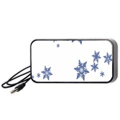 Star Snow Blue Rain Cool Portable Speaker by AnjaniArt