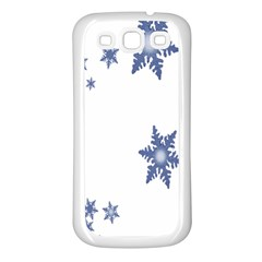 Star Snow Blue Rain Cool Samsung Galaxy S3 Back Case (white) by AnjaniArt