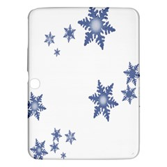 Star Snow Blue Rain Cool Samsung Galaxy Tab 3 (10 1 ) P5200 Hardshell Case  by AnjaniArt