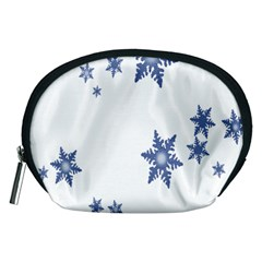 Star Snow Blue Rain Cool Accessory Pouches (medium)  by AnjaniArt