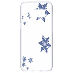 Star Snow Blue Rain Cool Samsung Galaxy S8 White Seamless Case by AnjaniArt