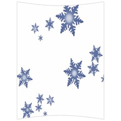 Star Snow Blue Rain Cool Back Support Cushion by AnjaniArt