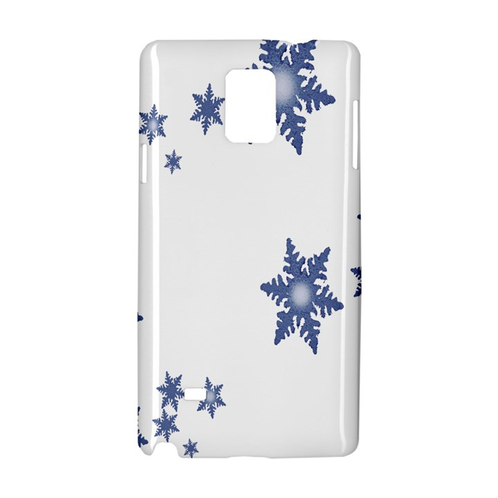 Star Snow Blue Rain Cool Samsung Galaxy Note 4 Hardshell Case