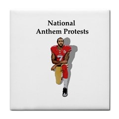 National Anthem Protest Tile Coasters by Valentinaart