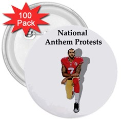 National Anthem Protest 3  Buttons (100 Pack)  by Valentinaart