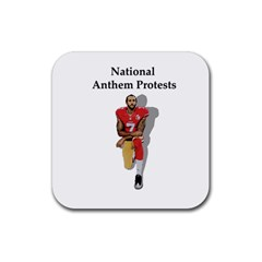 National Anthem Protest Rubber Coaster (square)  by Valentinaart