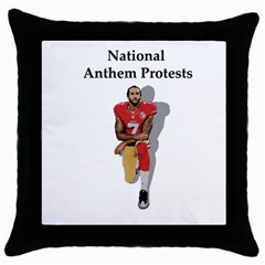 National Anthem Protest Throw Pillow Case (black)