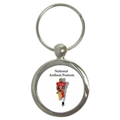 National Anthem Protest Key Chains (round)  by Valentinaart