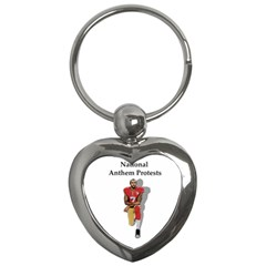National Anthem Protest Key Chains (heart)  by Valentinaart