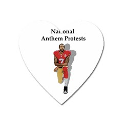 National Anthem Protest Heart Magnet by Valentinaart