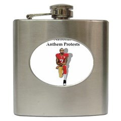 National Anthem Protest Hip Flask (6 Oz) by Valentinaart